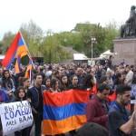Բողոքի երթ դեպի Ռուսաստանի դեսպանատուն 13․04․2016